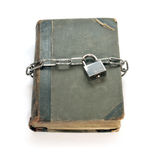 The book and chain. The ancient book which is connected by a chain Stock Photography
