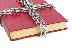Book and chain Royalty Free Stock Photography