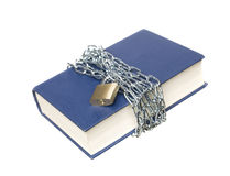 Book with a chain and lock Royalty Free Stock Images