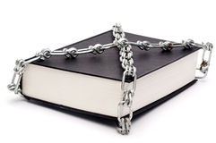 Book chained in censorship Royalty Free Stock Photos