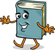 Book character cartoon illustration Royalty Free Stock Images
