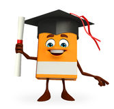 Book Character with degree Royalty Free Stock Photo