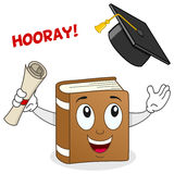 Book Character with Graduation Hat Royalty Free Stock Photography