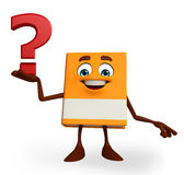 Book Character with question mark Stock Image
