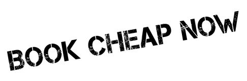 Book Cheap Now rubber stamp Royalty Free Stock Image