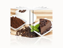 Book of a chocolate cheese Royalty Free Stock Photos