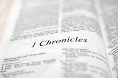 Book of 1 Chronicles Royalty Free Stock Image