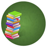 Book and circle icon background. Illustration of book and circle icon background Vector Illustration