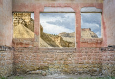 Book Cliffs through windows Royalty Free Stock Images