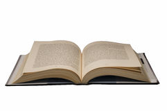 Book and clipping path. Large hardcover book open in the middle with clipping path Stock Image