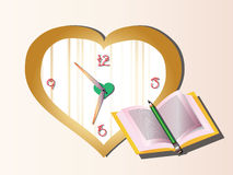 Book and clock. Back to school concept with book and clock Stock Photography