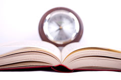 Book and clock Royalty Free Stock Image