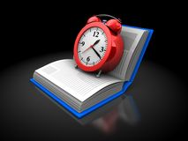 Book and clock Stock Photo
