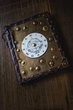 Book with clock. On the first page Royalty Free Stock Image