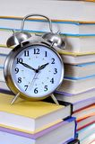 Book with clock Royalty Free Stock Image