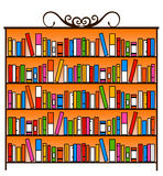Book closet. With lots of colorful books Royalty Free Stock Photos