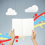 Book and clouds Royalty Free Stock Images