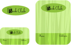 Book Club, Learning Center School Education Logo, Business Card  2 x 3.5, Flyer 4.25 x 5.5 Royalty Free Stock Photography