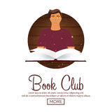Book club. Reading club. Open book with mystic bright light. Vector illustration. Book club. Reading club. Open book with mystic bright light. Vector Royalty Free Stock Photos