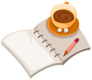 Book and coffee cup Stock Image