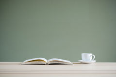 Book and coffee cup Royalty Free Stock Photography