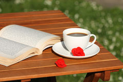 Book and coffee relax Royalty Free Stock Images