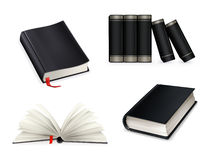 Book collection, black Royalty Free Stock Photography