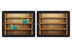 Book collection on the tablet Royalty Free Stock Images