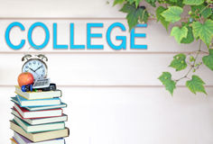 Book and college Royalty Free Stock Images