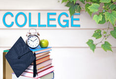 Book and college Royalty Free Stock Image