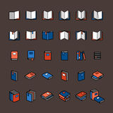 Book color icons Royalty Free Stock Photo