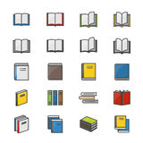Book Color Icons Set Of Stationery Vector Illustration Style Colorful Flat Icon Stock Photography