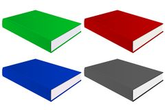 Book. Colored set. Vector 3d illustration isolated on white background Stock Photography
