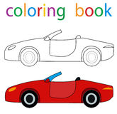 Book coloring. Book for boys car vector illustration