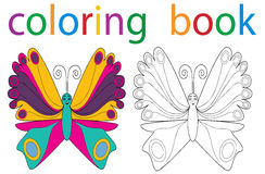Book coloring. Book of the butterfly coloring book vector illustration