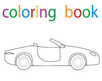 Book coloring. Car isolated circuit royalty free illustration