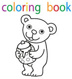 Book coloring royalty free illustration