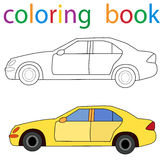 Book coloring. Isolated book coloring book car sedan royalty free illustration