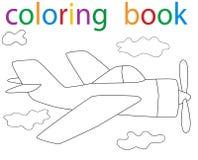 Book coloring. Vector, book coloring aircraft flying cartoon vector illustration