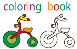 Book coloring. Vector, book coloring bike isolated vector illustration