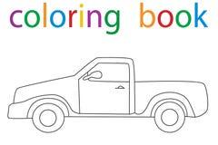 Book coloring. Vector, book coloring book for boys car stock illustration