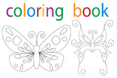 Book coloring. Vector, book of the butterfly coloring book vector illustration