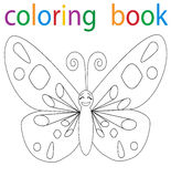 Book coloring. Vector, book coloring cartoon butterfly character vector illustration