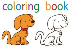 Book coloring. Vector, book coloring cartoon dog character stock illustration