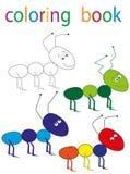 Book coloring. Vector, book coloring cartoon fish blue royalty free illustration