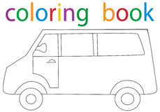 Book coloring. Vector, isolated book coloring car stock illustration