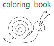 Book coloring. Vector, book coloring snail circuit vector illustration