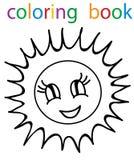 Book coloring. Vector, book coloring sun circuit vector illustration