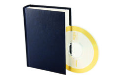 Book and compact disk Royalty Free Stock Photos