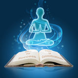 Book of concentration royalty free illustration
